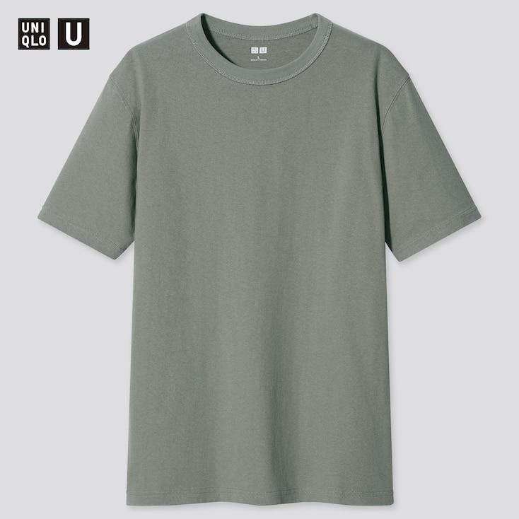 U Crew Neck Short-Sleeve T-Shirt, Green, Large