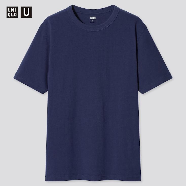 U Crew Neck Short-Sleeve T-Shirt, Navy, Large