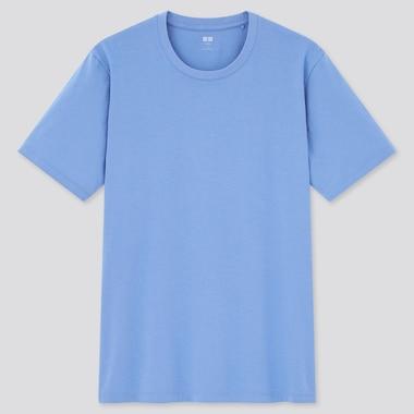 Men Supima© Cotton Crew Neck Short-Sleeve T-Shirt, Blue, Medium