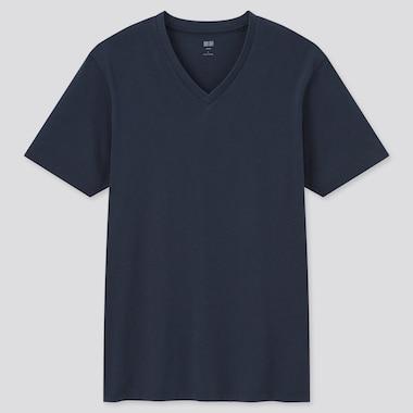 Men 100% Supima Cotton V Neck Short Sleeved T-Shirt