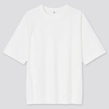 Raglan Half-Sleeve T-Shirt, White, Medium