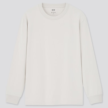 AIRism Cotton Crew Neck Long Sleeved T-Shirt