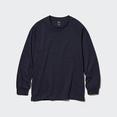 T-Shirt AIRism Cotone Girocollo Maniche Lunghe