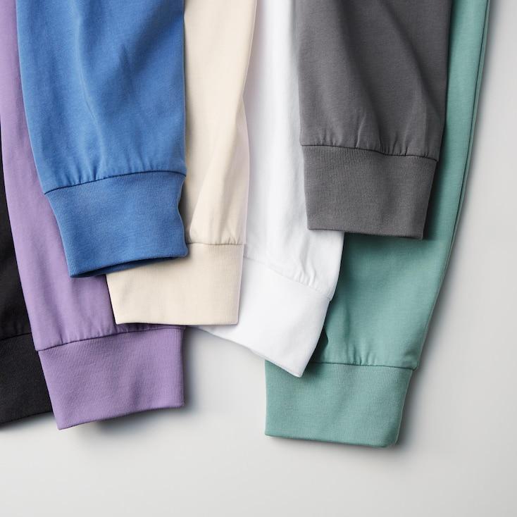 Airism Cotton Uv Protection Crew Neck Long-Sleeve T-Shirtÿ, White, Large