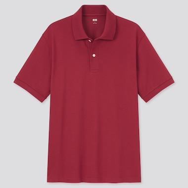 Dry Pique Short-Sleeve Polo Shirt, Red, Medium