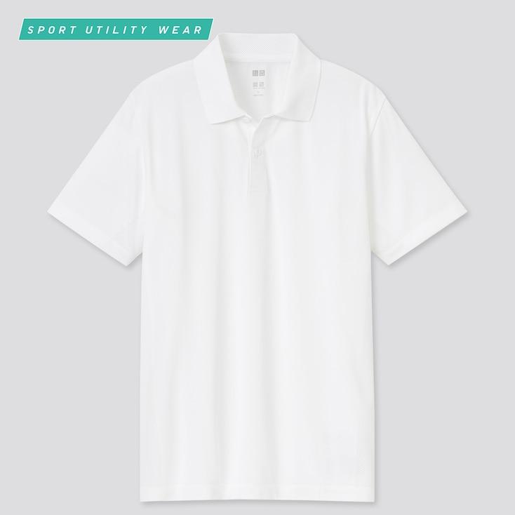 Men Dry-Ex Short-Sleeve Polo Shirt, White, Large