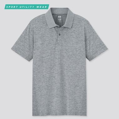 Men Dry-Ex Short-Sleeve Polo Shirt, Gray, Medium