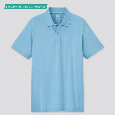Men Dry-Ex Short-Sleeve Polo Shirt, Blue, Medium