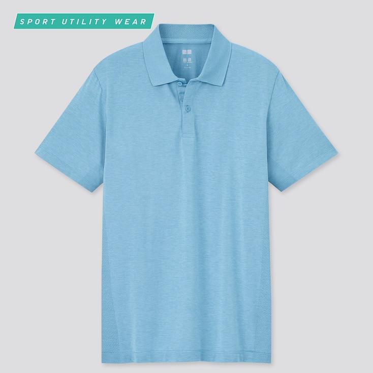 Men Dry-Ex Short-Sleeve Polo Shirt, Blue, Large