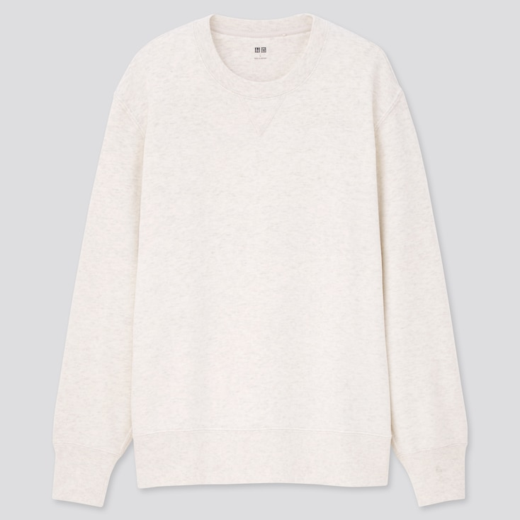 Long-Sleeve Sweatshirt, Light Gray, Large