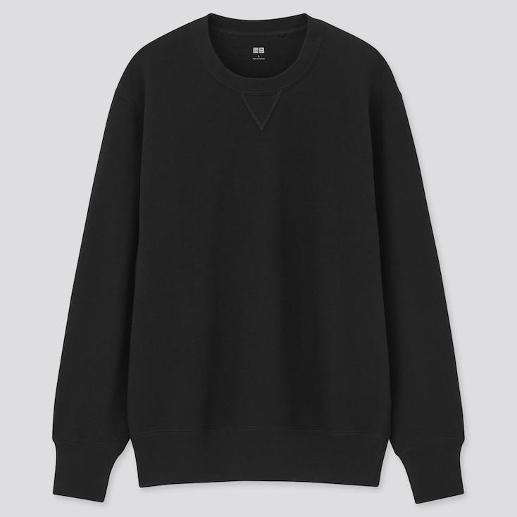 Long-Sleeve Sweatshirt, Black, Large
