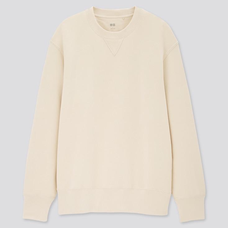 Long-Sleeve Sweatshirt, Natural, Large