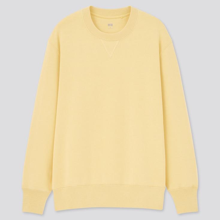 Long-Sleeve Sweatshirt, Yellow, Large