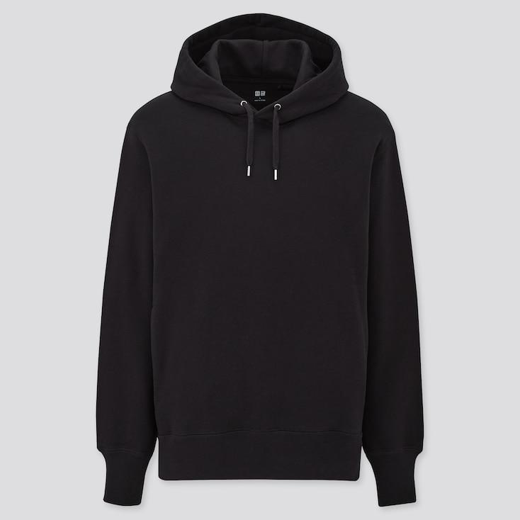 Sweat Pullover Long-Sleeve Hoodie, Black, Large