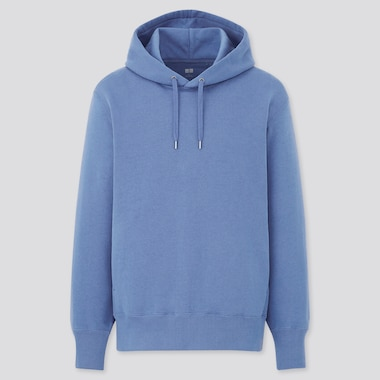 Sweat Pullover Long-Sleeve Hoodie, Blue, Medium