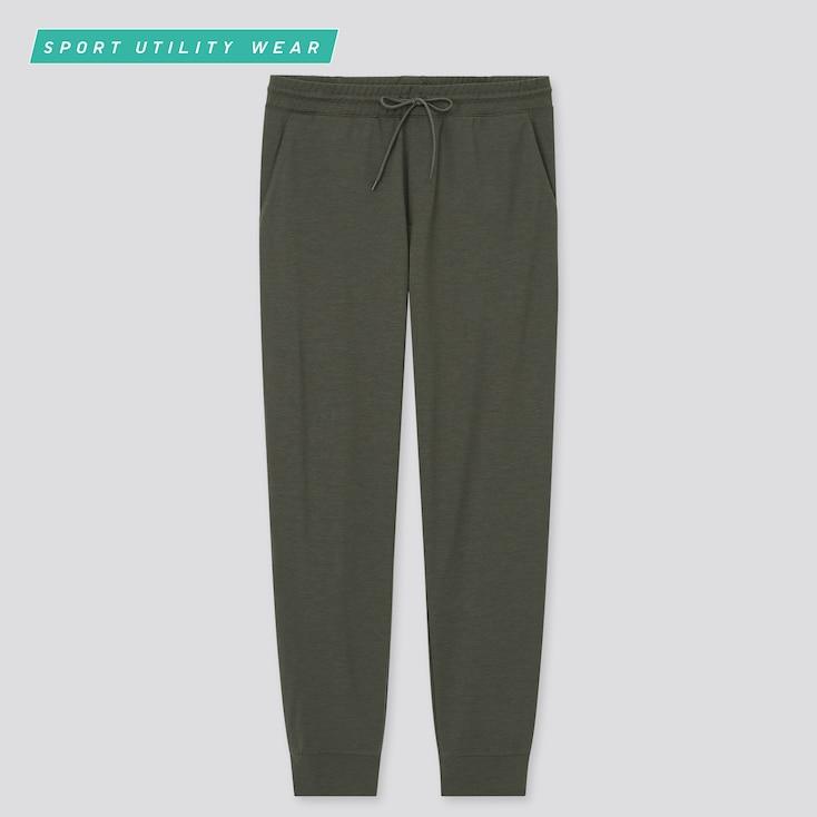 Men Ultra Stretch Active Jogger Pants, Dark Green, Large