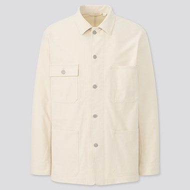Men Washed Jersey Utility Jacket