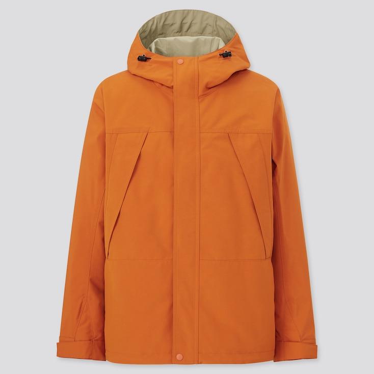 Men Mountain Parka, Orange, Large