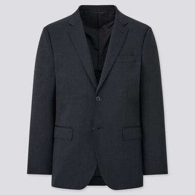 Men Wool Stretch Slim Fit Blazer Suit Jacket