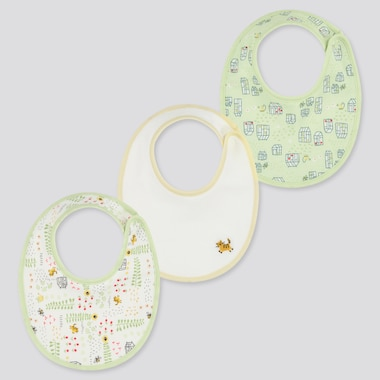 Baby Joy Of Print Bib (Set Of 3), Green, Medium