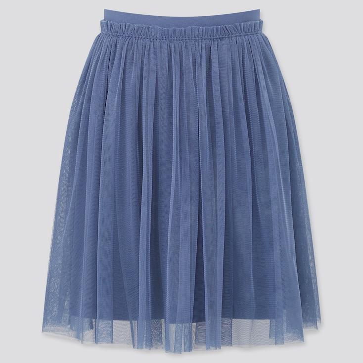 Girls Tulle Skirt, Blue, Large