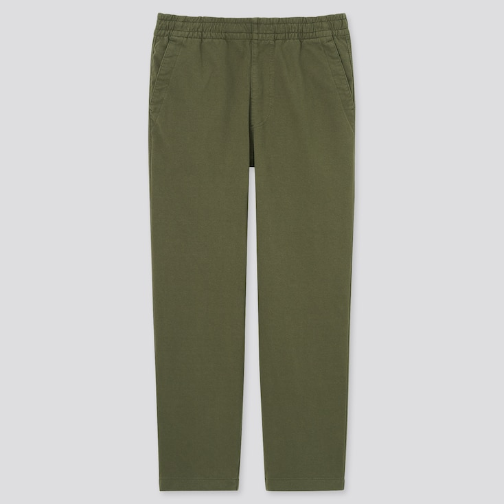 MEN WASHED JERSEY ANKLE PANTS
