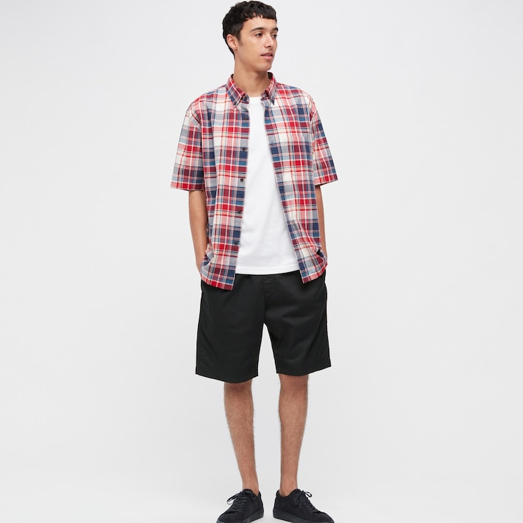 Men Dry Stretch Easy Shorts, Black, Large