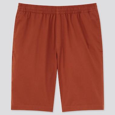 Men Dry Stretch Easy Shorts, Dark Orange, Medium