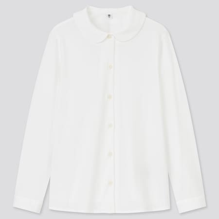 Girls AIRism Long Sleeved Blouse