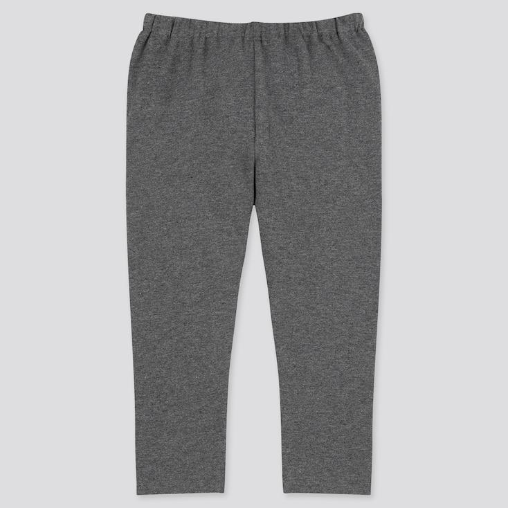 Baby Full-Length Leggings, Dark Gray, Large