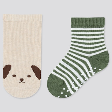 Baby Regular Socks (2 Pairs), Natural, Medium