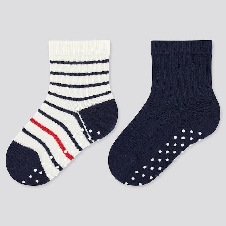 Baby Regular Socks (2 Pairs), Navy, Large