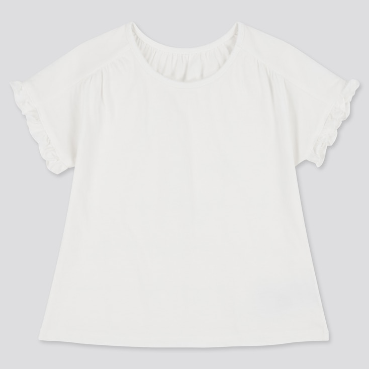 Toddler Crew Neck Short-Sleeve T-Shirt (Online Exclusive), White, Large
