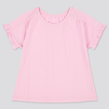Toddler Crew Neck Short-Sleeve T-Shirt (Online Exclusive), Pink, Medium