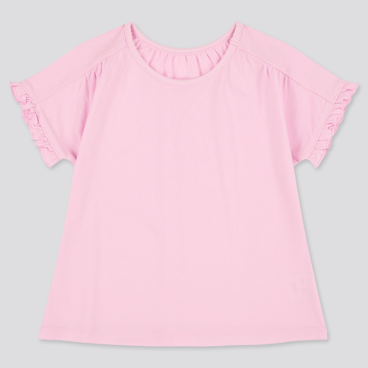 Toddler Crew Neck Short-Sleeve T-Shirt (Online Exclusive), Pink, Large