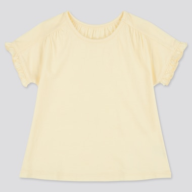 Toddler Crew Neck Short-Sleeve T-Shirt (Online Exclusive), Yellow, Medium