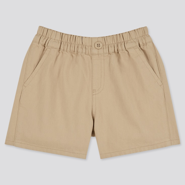 Toddler Easy Shorts, Beige, Large