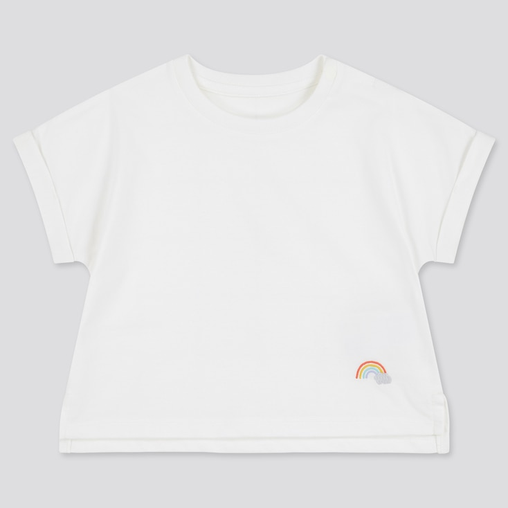 Toddler Airism Cotton Short-Sleeve T-Shirt (Online Exclusive), White, Large