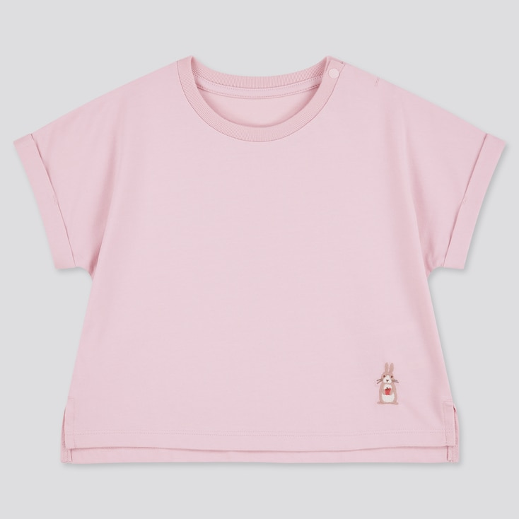 Toddler Airism Cotton Short-Sleeve T-Shirt (Online Exclusive), Pink, Large