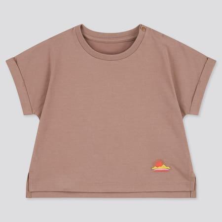 Babies Toddler AIRism Cotton Short Sleeved T-Shirt