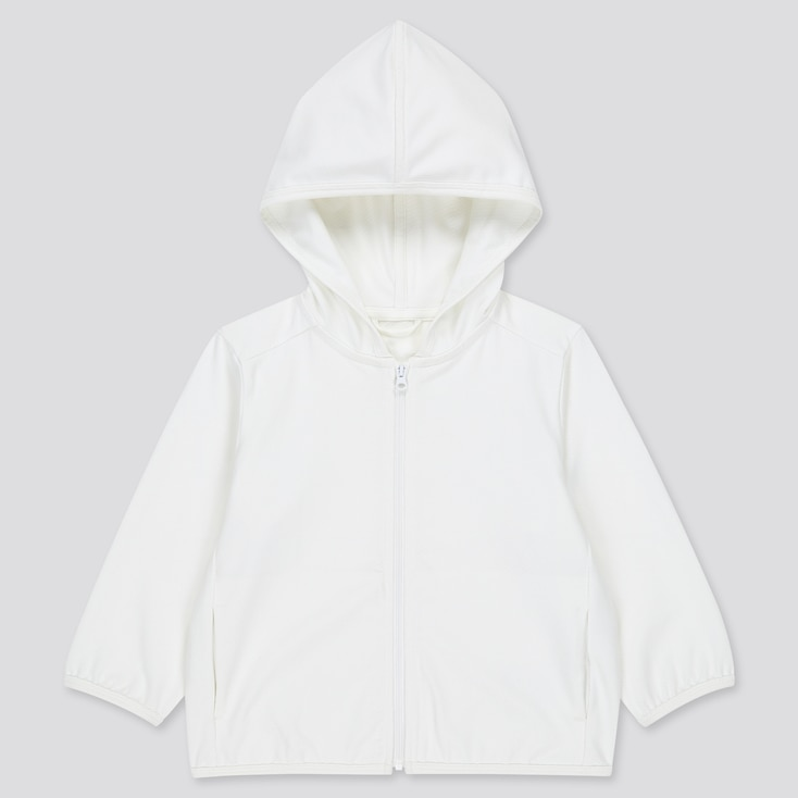 Toddler Airism Uv Protection Mesh Long-Sleeve Hoodie (Online Exclusive), White, Large