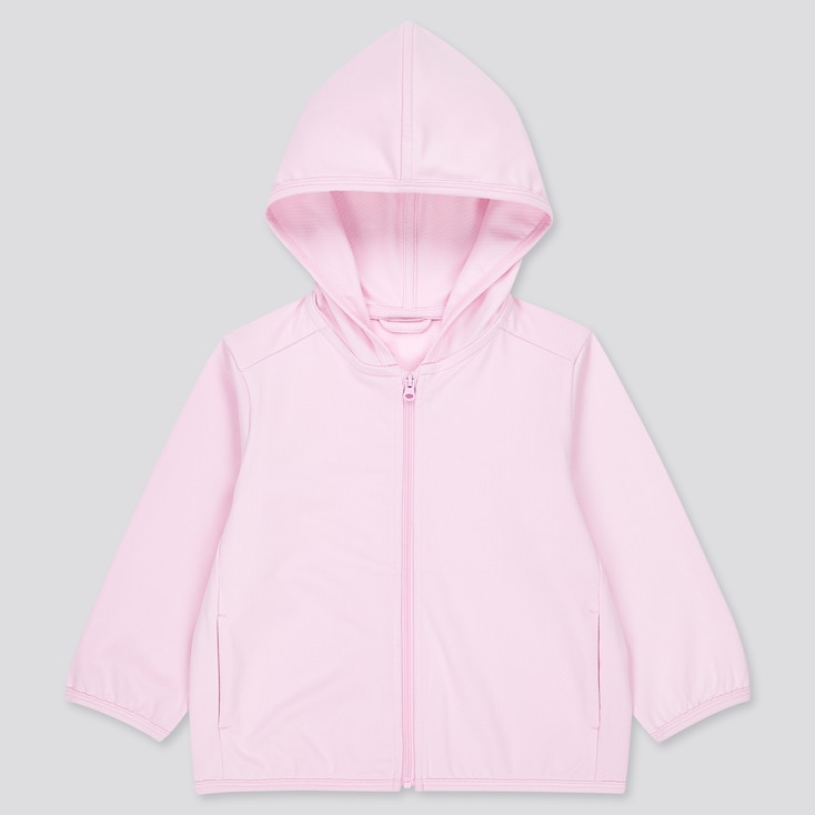 Toddler Airism Uv Protection Mesh Long-Sleeve Hoodie (Online Exclusive), Pink, Large