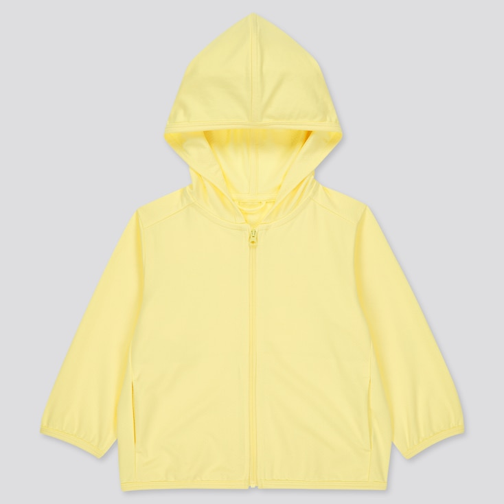 Toddler Airism Uv Protection Mesh Long-Sleeve Hoodie (Online Exclusive), Yellow, Large