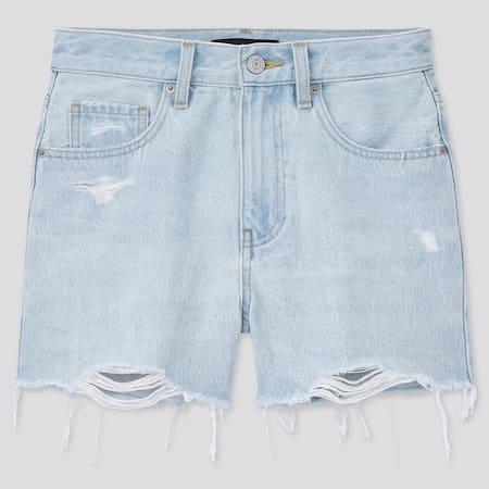 Women High Rise Denim Shorts