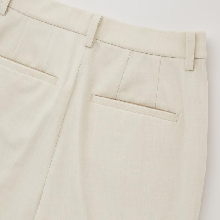 Women Smart 2-Way Stretch Solid Ankle-Length Pants, Light Purple, Large