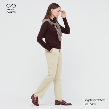 Women Smart Stretch Premium Beauty Straight Pants, Natural, Medium