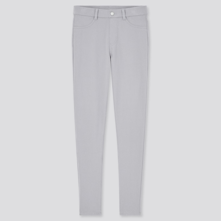 Women Ultra Stretch Leggings Pants, Gray, Large