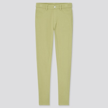 Women Ultra Stretch Leggings Pants, Green, Medium