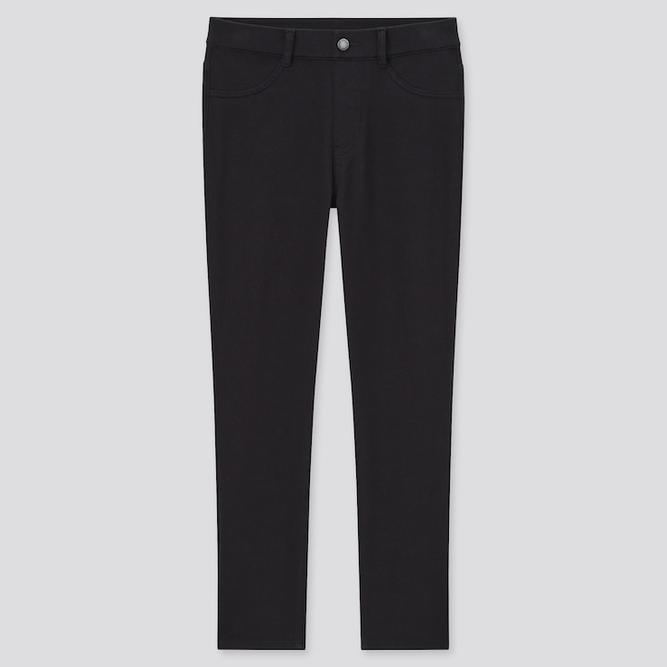 Women Ultra Stretch Cropped Leggings Pants, Black, Large