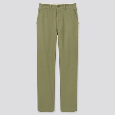 Women High-Waisted Straight Chino Pants (Online Exclusive), Green, Medium